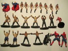 2019 WWE & Greenbrier DC Marvel Comics Miniature Plastic Ornaments / Chr... - $21.77