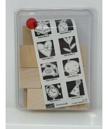 Stampin Up Occasionally -  Rubber Stamp Set of 4 Wood Mounted 2004 - $18.80