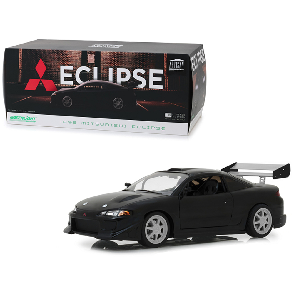1995 Mitsubishi Eclipse Black 1/18 Diecast Model Car  by Greenlight 19040