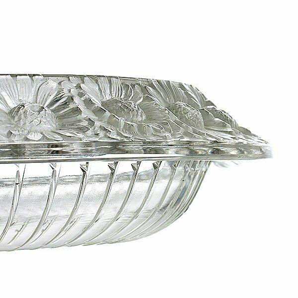 """Lalique Marguerites Large 14"""" Centerpiece Bowl Excellent Condition - $1,087.02"""