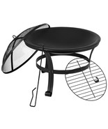 """Flash Furniture 22"""" Round Wood Burning Firepit with Mesh Spark Screen an... - $83.57"""