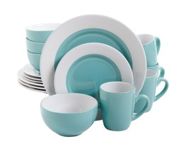Gibson Home Style Deluxe 16-Piece Dinnerware Set, Blue - $70.76