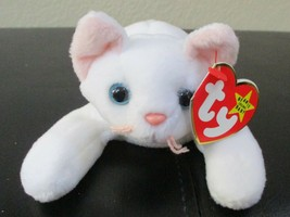Ty Beanie Baby Flip the White Cat 4th Generation 3rd Generation Tush Can... - $24.74