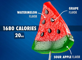NEW Gummy Watermelon Slice On a Stick Realistic Party Candy Gift 1.25 lbs - $24.65