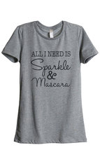 Thread Tank Sparkle and Mascara Women's Relaxed T-Shirt Tee Heather Grey - $24.99+