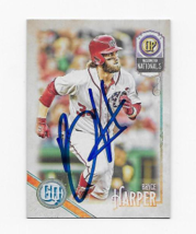 2018 TOPPS BRYCE HARPER NATIONALS HAND SIGNED AUTOGRAPH CARD - $50.00