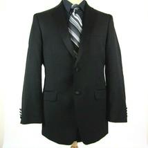 Calvin Klein Men's size 38R Blazer Sport Coat Tuxedo Jacket Black Wool - $28.88