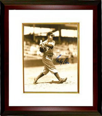 Primary image for Goody Rosen signed Brooklyn Dodgers Vintage Sepia tone 8x10 Photo Custom Framed