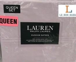 Ralph Lauren Hyacinth Purple 4 Piece QUEEN Sheet Set Dunham Sateen  300 ... - $74.24