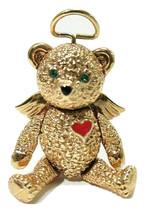 Vintage Angel Teddy Bear Articulated Signed Batya Pendant / Brooch Combo - $17.00