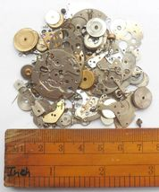30+gram Vintage Steampunk Watch parts, Wheels Parts, other small parts. D-509 image 3