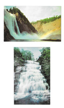 2 Waterfall Postcards Canada Montmorency Falls New York Hector Falls  - $6.69