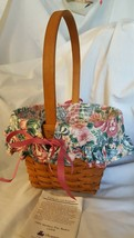 Longaberger 1993 MOTHERS DAY Basket 12904 Fabric Floral Liner Protector  - $19.95