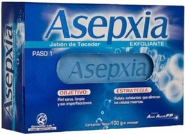 Asepxia Exfoliante: Removes Dead Cells Dirt & Impurities Jabon Soap Bar ... - $6.80