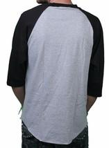 Famous Stars & Straps Athletic Heather Black Storm Raglan 3/4 Sleeve T-Shirt NWT image 2