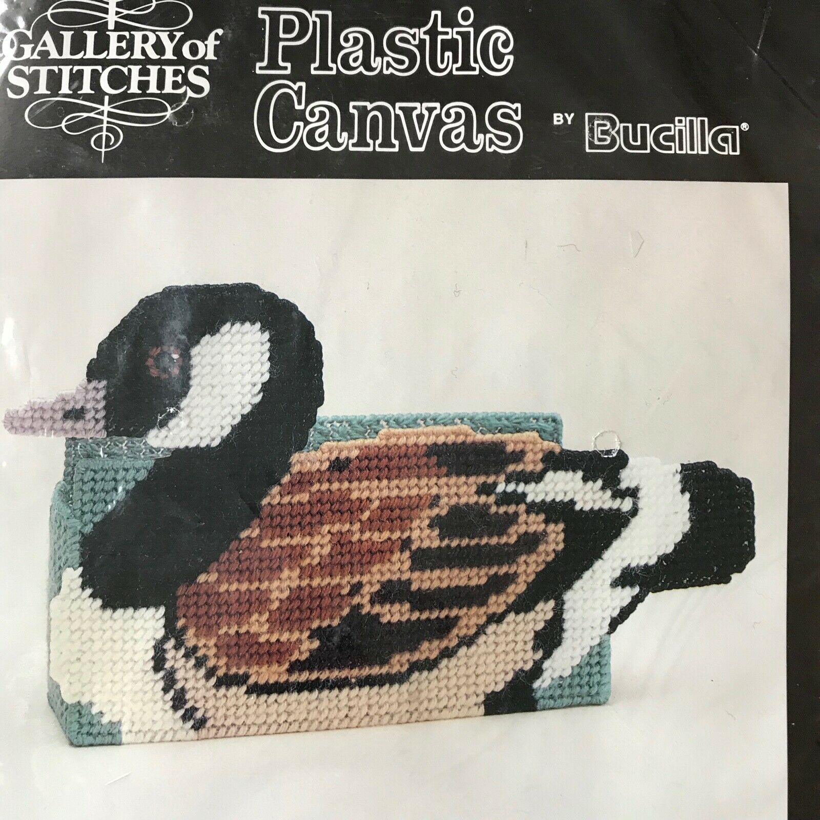 Primary image for Bucilla Gallery of Stitches Mallard Duck Doorstop Plastic Canvas 6933