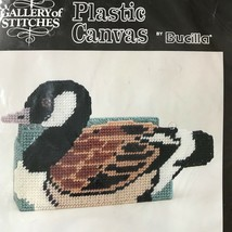 Bucilla Gallery of Stitches Mallard Duck Doorstop Plastic Canvas 6933 - $12.86