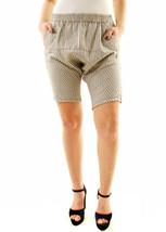One Teaspoon Womens 17556 Club Black Striped Calypsos Shorts White/Black... - $60.63