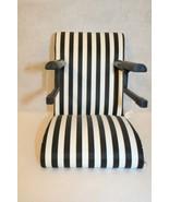 "AmericanGirl Doll 18"" Bitty Baby 15"" Table High Chair black/white stripe... - $89.95"