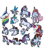 Mosheng Accessory 14pcs Unicorn DIY Embroidery Mix Patterns Iron On Patc... - $21.88