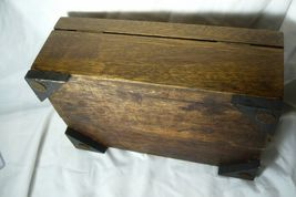 Wonderful Wood Lehigh Valley Cigar Box Lined in  Metal image 9