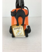 Yankee Candle Scent Plug Diffuser Halloween Black Cat Theme Lighted - $14.84