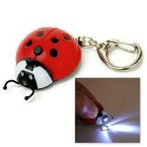 LOT OF 10 LED LIGHT LADYBUG KEYCHAIN Wholesale Red Lady Bug Animal Key C... - $24.95
