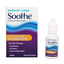 Bausch & Lomb Soothe Long Lasting Hydration Lubricant Eye Drops, 0.5 fl oz - $15.29