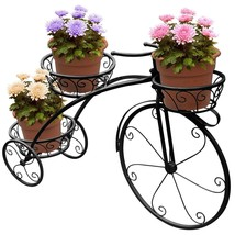 Tricycle Plant Stand Metal Flower Pot Holder Outdoor Garden Lawn Patio D... - $89.16 CAD+