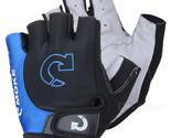 MOke Outdoor Cycling Riding Bike Motorcycle Anti-Slip Half-Finger Gloves - Black
