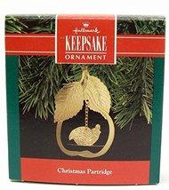 1990 Hallmark Keepsake Christmas Partridge Brass Christmas Ornament - $6.93