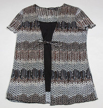 NOTATIONS PETITE WOMENS PL STRETCHY BLOUSE TOP SHORT SLEEVE POLYESTER SP... - $12.61