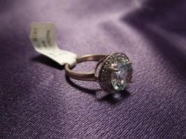 10K Yellow Gold Blue Topaz Diamond Ring 2.3 Grams 5 3/4 Size - $123.75