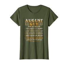 New Shirts - August Guy Top 10 Rules Funny Birthday Gift for Girl Shirt ... - $19.95+