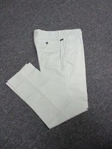 ERMENEGILDO ZEGNA Pale Green Flat Zip Front Solid Slim Fit Pants Sz 48 D... - $39.59