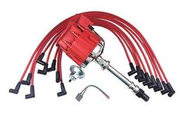 A-Team Performance Super HEI Distributor Red Cap and Spark Plug Wires Set Red 8m