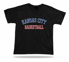 Kansas City USA BASKETBALL t-shirt tee warm up style court side design - $7.57