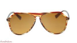 Dolce Gabbana Uomo Pilota Occhiali da Sole DG4341 318973 a Righe - $185.20