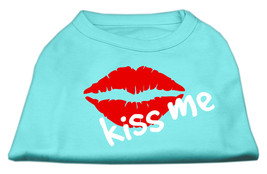 Kiss Me Screen Print Shirt Aqua Med (12) - $11.98