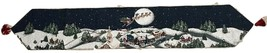 Santa Claus Christmas Holiday Winters Night Jacquard Woven Tapestry Tabl... - $26.99