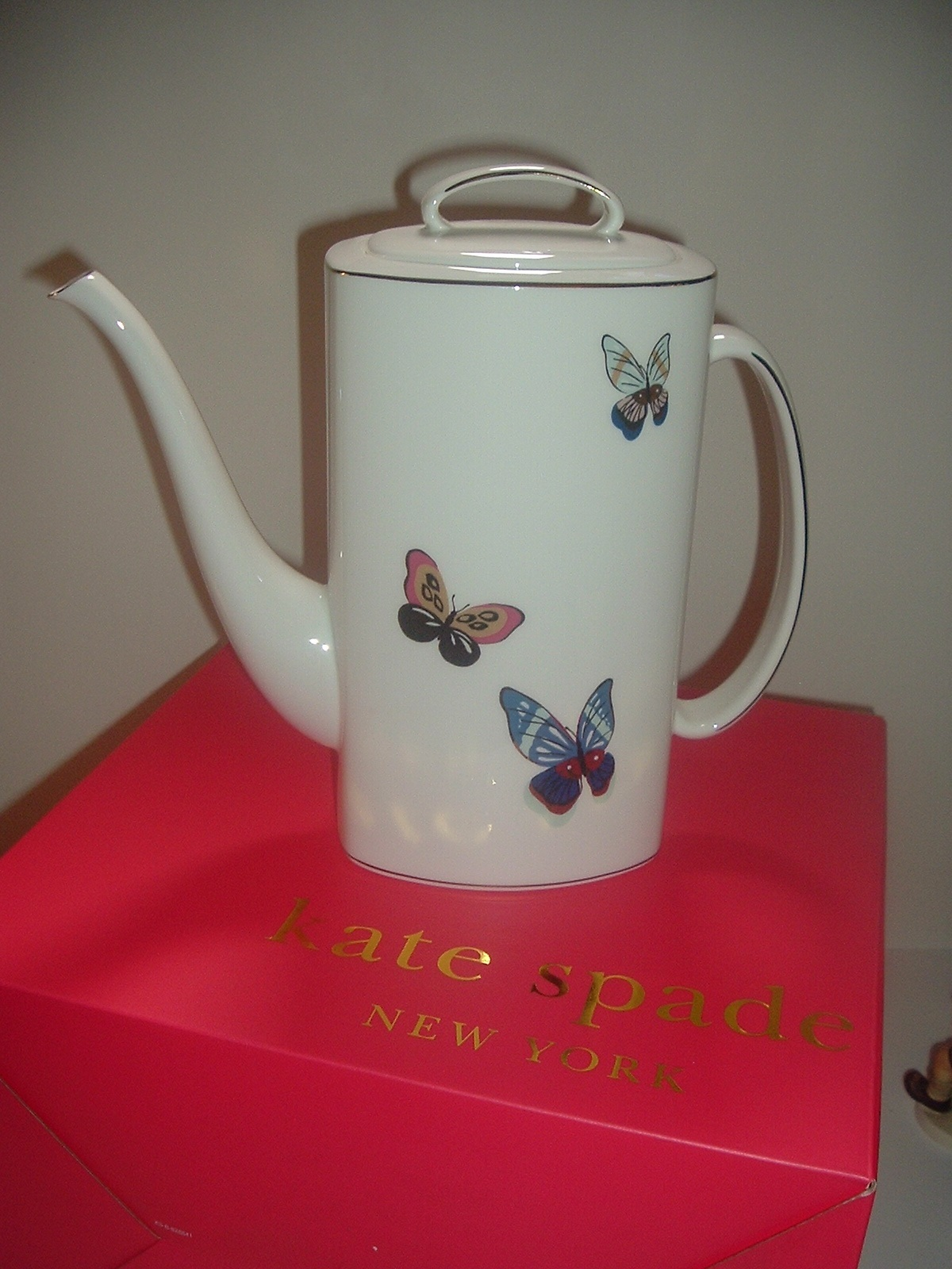 Primary image for Lenox Kate Spade Eden Court Coffee Pot Unused in box