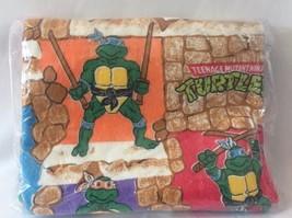 Vintage 1988 Teenage Mutant Ninja Turtle TMNT Comforter Bedspread Blanke... - $118.80