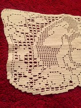 Vintage rectangular doily with Victorian dancers and intricate border detail. image 2
