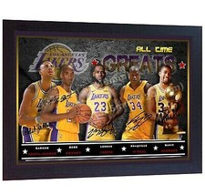 LeBron James Kobe Bryant Magic Johnson O'Neal Abdul-Jabbar signed photo ... - $20.53