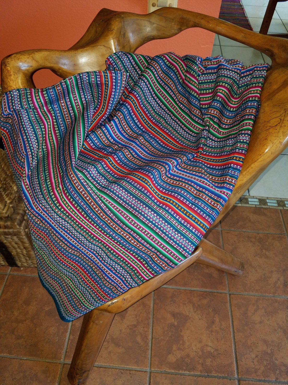 Tapestry blanket Andes rustic style
