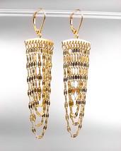 CHIC Urban Anthropologie Multistrands Gold Link Chains Leverback Tassel Earrings - $16.99