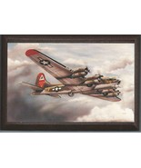 """4"""" X 6"""" Boeing B-17 Flying Fortress WWII Aircraft Wooden Plaque - $7.87"""