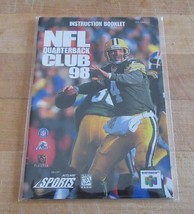 NFL Quarterback Club 98 Nintendo 64 Instruction Manual Booklet - $4.95