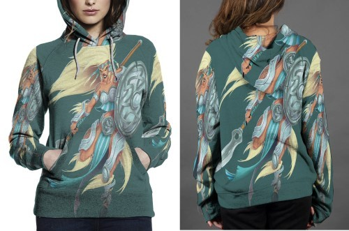 The walkyrie hoodie fullprint women