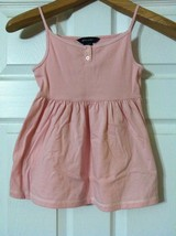 RALPH LAUREN GIRLS PRE-OWNED PINK 100% COTTON SLEEVELESS TOP SIZE: M (8-10) - $18.69